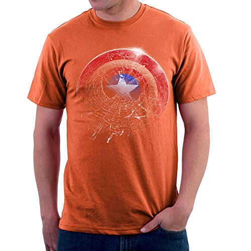 Marvel Spiderman Captain America Spider Shield Men's T-Shirt