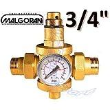 """Riduttore di pressione acqua 3/4"""" M-M con manometro"""