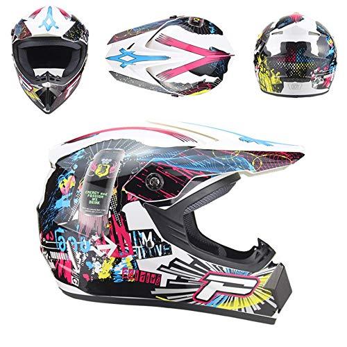 QYWSJ Conjunto de Cascos de Motocross DH