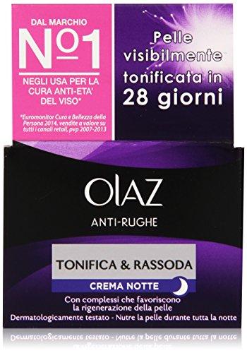 Olaz - Crema Notte Anti-Rughe, Tonifica & Rassoda, 50 ml