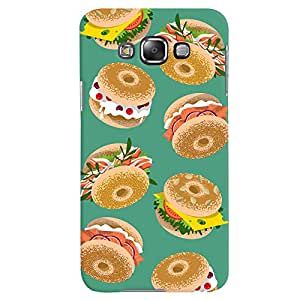 ColourCrust Samsung Galaxy E7 Mobile Phone Back Cover With Burger For Foodies Pattern Style - Durable Matte Finish Hard Plastic Slim Case