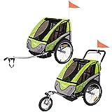 2 in 1 Kinderfahrradanhänger Froggy Jogger Fahrradanhänger Stahl Apple -