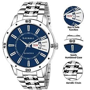 Laurels Lo-ess-203 Analog Blue Dial Men's Watch-Lo-Ess-203