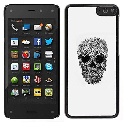 All Phone Most Case / Carino Immagine Rigida Custodia Duro protettiva Caso Cellulare Cassa / Hard Case for Amazon Fire Phone // Art Rock roll Heavy Metal Skull Biker