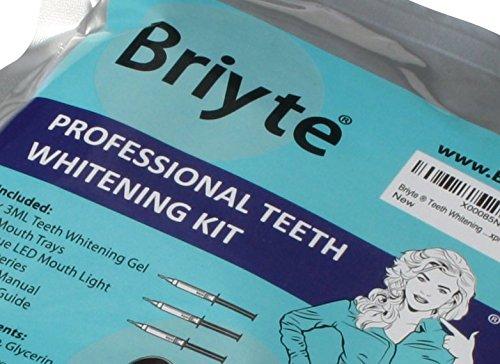 Briyte ® Teeth Whitening Kit (TEETH WHITENING) Pro Home Teeth Whiten Tooth Whitening Dental Care White 3x GEL Bleaching Kit Briyte Crest UK Express