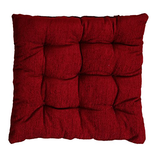Story @ Home Best price Square Chair Pad Seat Cushion Car Pad Office Chair Pad Stool Cushion 1 PC Corduroy Chair Pad 14 inch X 14 Inch- Maroon  available at amazon for Rs.249