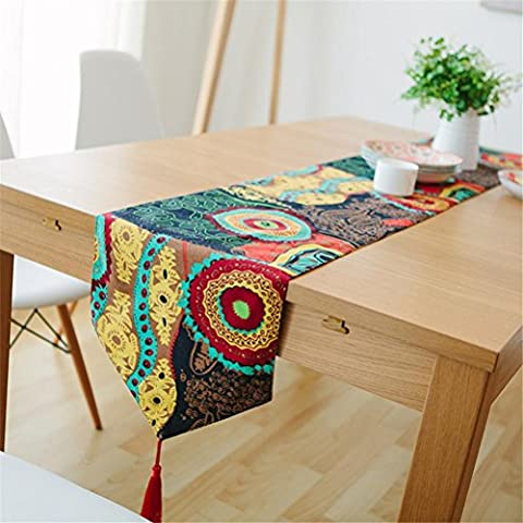 ADDMAT® Chemin De Table Moderne Tissu Table À Manger Table Basse Chemin De Table Meuble Tv Couche Double Gland Nappe De Table , 30*150Cm