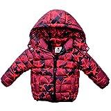 AMYMGLL Veste pour enfants hiver nouveaux enfants doudoune garçons et filles vestes chemise pour enfants manteau épais marée 2 couleur en option , red , 90cm