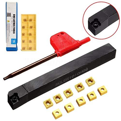 A TL SCLCR1010H06 Drehdreh-Bohr-Halter Werkzeugstange + 10 CCMT0602 Klingeneinsätze