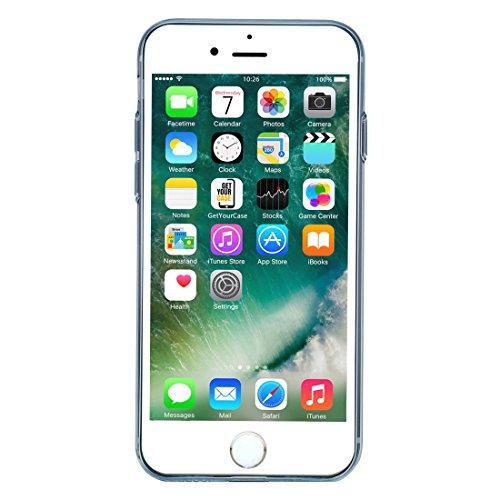 """wortek """"Baseus Edition Super Slim"""" High Quality TPU Schutzhülle iPhone 7 Silikon Case mit Kameraschutz und Staubschutz Blau Blau"""