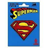 Logoshirt Superman Logo Aufnäher - DC Comics Patch - Superheld Aufbügler - Lizenziertes Originaldesign