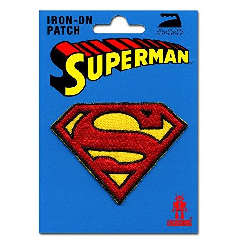 Superman Logo Aufnäher - DC Comics Patch - Superheld Aufbügler - Lizenziertes Originaldesign - LOGOSHIRT (Lizenziertes Superman Kostüm)