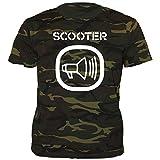 Unbekannt Scooter - Logo - Camouflage - T-Shirt Größe S