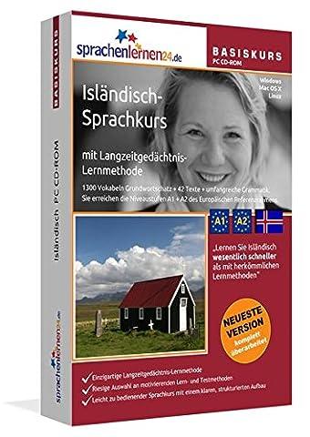 Isländisch-Basiskurs mit Langzeitgedächtnis-Lernmethode von Sprachenlernen24.de: Lernstufen A1 + A2. Isländisch lernen für Anfänger. Sprachkurs PC CD-ROM für Windows 8,7,Vista,XP / Linux / Mac OS X