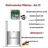JOSTechnik elektronischer Pförtner + Zeitschaltuhr + Klappe - Aktion vom Hersteller!