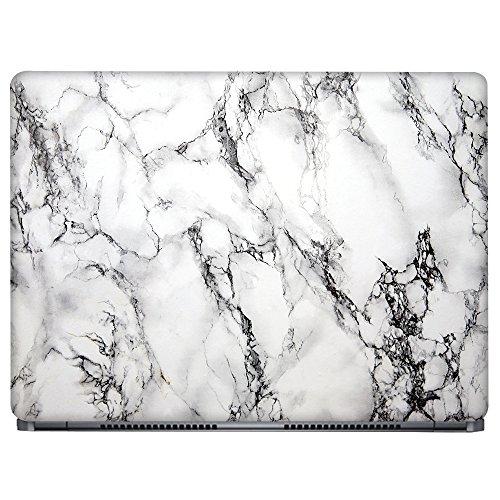 Crazyink White Marble Laptop Skin Sticker (16 to 17 inch)