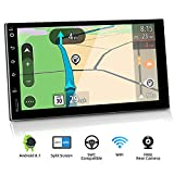 BXLIYER Autoradio Double din Android 8 de Navigation de Voiture stéréo avec / 7 Pouce Quad Core Radio multimédia de Voiture/ Soutien 256G SD USB Volant WiFi BT OBD WLAN / Caméra arrière GRATUITES