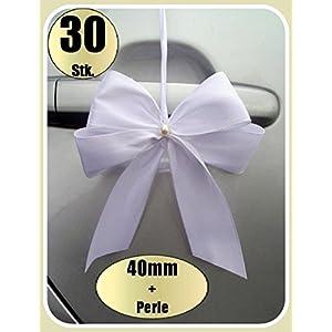 30 Antennenschleifen Autoschleifen Spiegelschleifen Hochzeit (0,83€ Stk)
