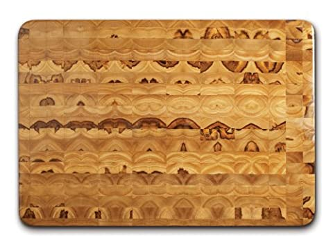 Proteak Teak Cutting Board Rectangle 20-by-14-by-2-1/2-Inch with Hand Grip, End Grain by Proteak