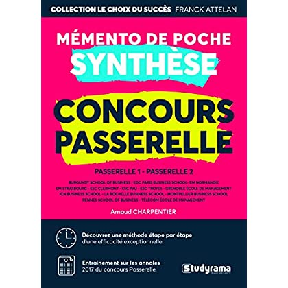 Synthèse concours Passerelle