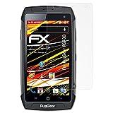atFolix Schutzfolie kompatibel mit RugGear RG730 Bildschirmschutzfolie, HD-Entspiegelung FX Folie (3X)