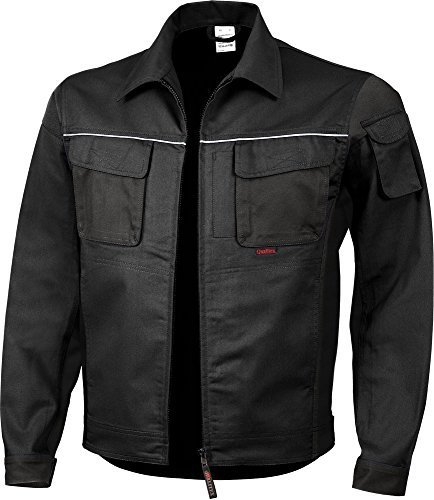 Qualitex PRO Bund-Jacke Arbeits-Jacke MG 245 - schwarz - Größe: XL