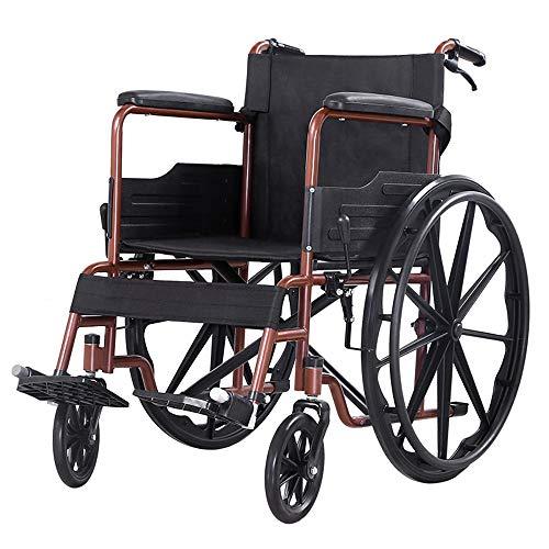 Flashing lights Rollstuhl Senioren Senioren Roller Behinderte Trolley Multifunktions Zusammenklappbare Leichte Kleine Tragbare Solide Riesenrad Leicht Zu Fahren -