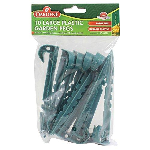Comme Direct Ltd TM Oakdene 10 grandes Piquets de jardin en plastique