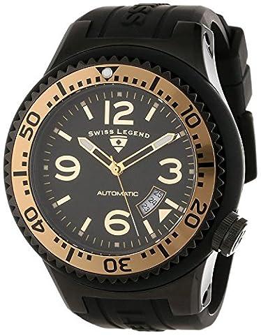 Swiss Legend Men's 52mm Black Silicone Band Steel Case Sapphitek Crystal Automatic Watch 11819A-BB-01-GB