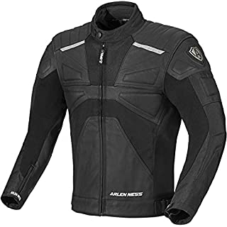 Arlen Ness Tek-M wasserdichte Motorrad Leder/Textil-Jacke 48