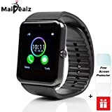 Orologi Intelligenti Best Deals - GT08 Smartwatch Android, MaiDealz Bluetooth Smartwatch Intelligente Orologio Da Polso Telefono con Slot per Scheda SIM / TF per Android Samsung Huawei Xiaomi Sony LG HTC Iphone IOS [ Parte delle funzioni ]- Argento