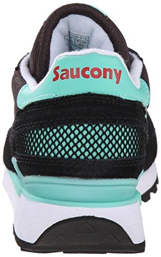 Saucony Sneakers Shadow Veloursleder und Textil Schwarz und Türkis Schwarz