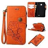 COWX Lumia 630 Hülle Kunstleder Tasche Flip im Bookstyle Klapphülle mit Weiche Silikon Handyhalter PU Lederhülle für Microsoft Nokia Lumia 630 Tasche Brieftasche Schutzhülle