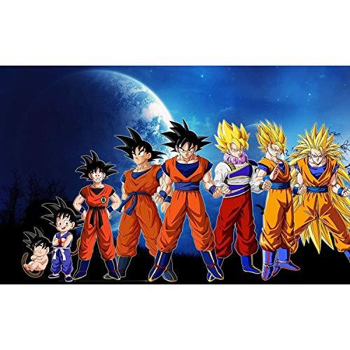 Fabulous Poster Affiche Dragon Ball Évolution de Son Goku Kakarot Enfant Adulte Super Guerrier Saiyan 91x131cm