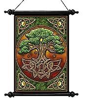Progettazione Toscano CL571304 albero della vita della tela di canapa a rotolo Tapestry per artista Lisa Parker