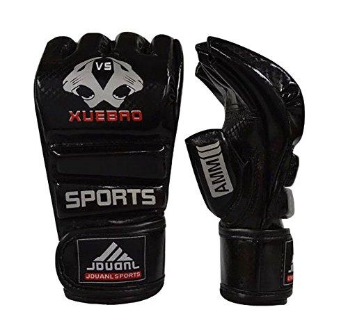 Kämpfen Halbfingerhandschuhe -UFC Boxhandschuhe - Handschuhe MMA - Schwarz S