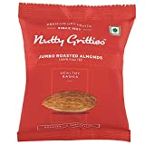 #9: Nutty Gritties Roasted Almonds, Lightly Salted(Pack of 4-21grams Each), 84g