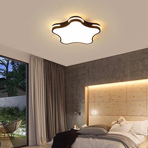 Schwarzes Quadrat Post (XQK Deckenleuchten Creative home Beleuchtung Schlafzimmer Wohnzimmer lamp post-modernen, minimalistischen Acryl kreative Heimat Versprechen dimmen Schwarz 600*50 (36 W) Deckenleuchte)
