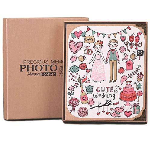 L.HPT Fotoalbum Sammelalbum, Hochzeits Gästebuch fotobuch mit austauschbarer schwarzer Seite Geschenke Jahrestag Weihnachten Abschluss Muttern Tagesgeschenke, 20 * 8cm