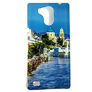 Genric Printed Soft Back Cover Case For Intex Cloud String HD