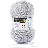 Schachenmayr 9801212-01005 Baby Bravo Smiles Pelote de laine pour vêtement bébé 6x 12x 6cm, Laine, gris, 6  x  12  x  6 cm