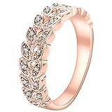 Aohua Modas vendidas,colección de Diamantes, Naranja,Anillo de...