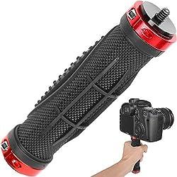 """ChromLives Poignée de caméra Support de Fixation Universelle Stabilisateur de caméra avec vis de 1/4""""pour caméscope numérique Caméscope Caméra d'action Caméra vidéo à Del Lumière vidéo Smartphone"""