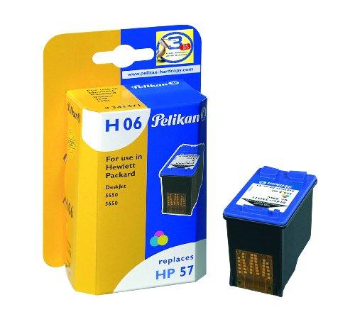 Pelikan 341471 – Cartucho de tinta Hp Deskjet 5550, 450, photosmart 7000-230 – HP57-57 – 3 Colores