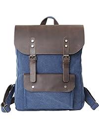 Kimood sac de voyage en toile style ancien ki0603 - Vert - Vintage Khaki, 51 x 30 x 30 cm EU