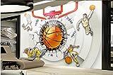 Yosot 3D-Kreative Persönlichkeit Tapete Basketball Halle Athleten Cool Tooling Hintergrund 3D Tapete-140Cmx100Cm