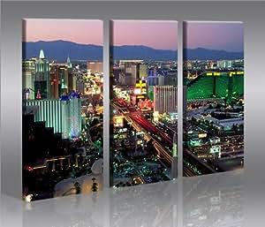 Las Vegas Tableau sur Toile Poster Tableaux pour la mur - prêts à poser