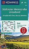 KOMPASS Wanderkarte Südtiroler Weinstraße, Unterland, Strada del Vino, Bassa Atesina: 3in1 Wanderkarte 1:25000 mit Aktiv Guide inklusive Karte zur ... (KOMPASS-Wanderkarten, Band 74)