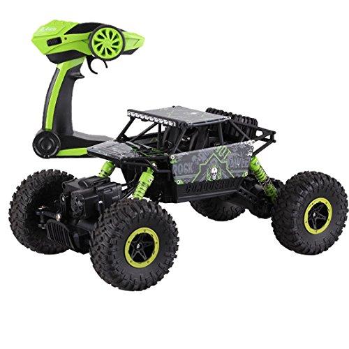 deAO RC Auto Fuoristrada Rock Crawler 4x4 Radiocomandati 1:18 4WD 2.4GHz Sync System per Modalità Multi Giocatore (Verde)