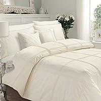 Luxury Quality HAMLET Duvet / Quilt Cover & Pillowcases Bedding Set - Signature Range (Super King, Cream)